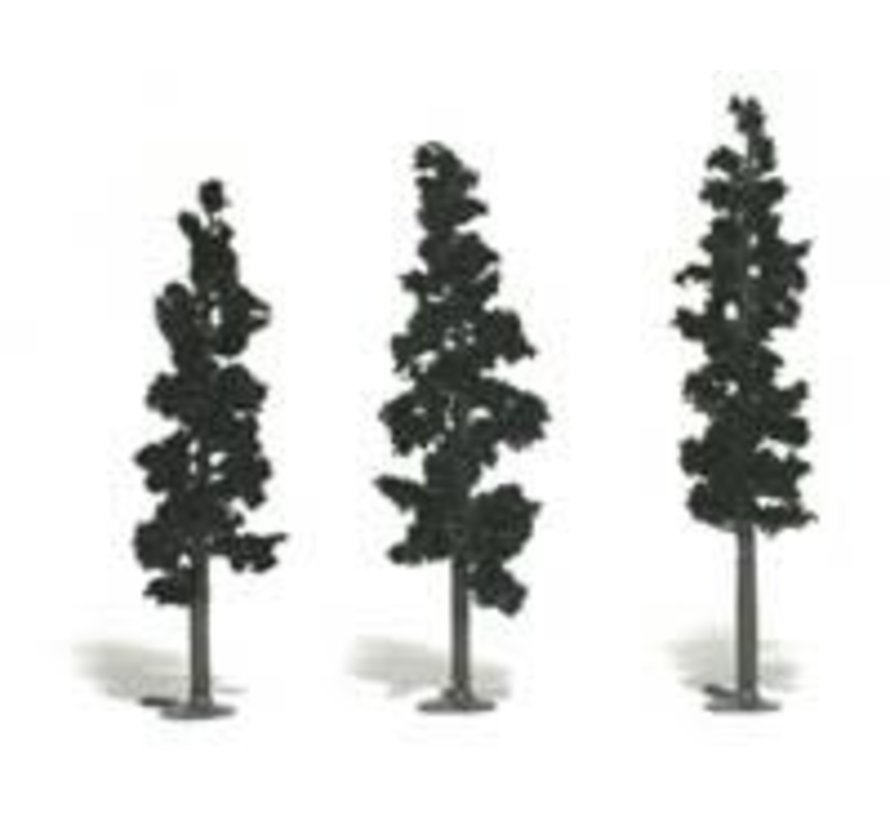 """Realistic Tree Kit Pines Forest Green 2-1/2"""" - 6"""" (24)"""
