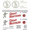 WOO - Woodland Scenics 785- HO Boxcar Decal Dry Transfer Great Northern Boxcars Modern General Freight HO Scale (D)