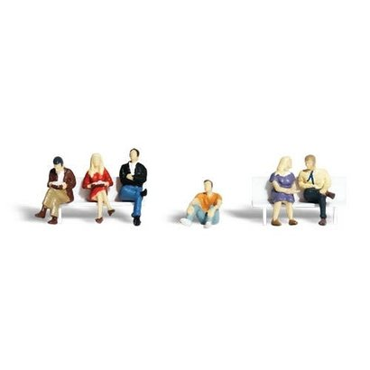 WOO - Woodland Scenics 785- HO Scenic Accents People Sitting (6)
