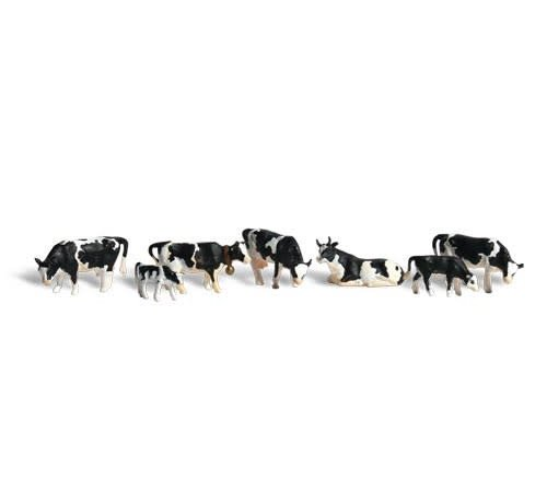 WOO - Woodland Scenics 785- HO Scenic Accents Holstein Cows (7)
