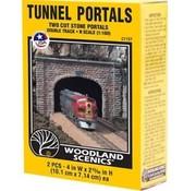 Woodland Scenics (WOO) 785- C1157 N-scale Double Tunnel Portal Cut Stone 2