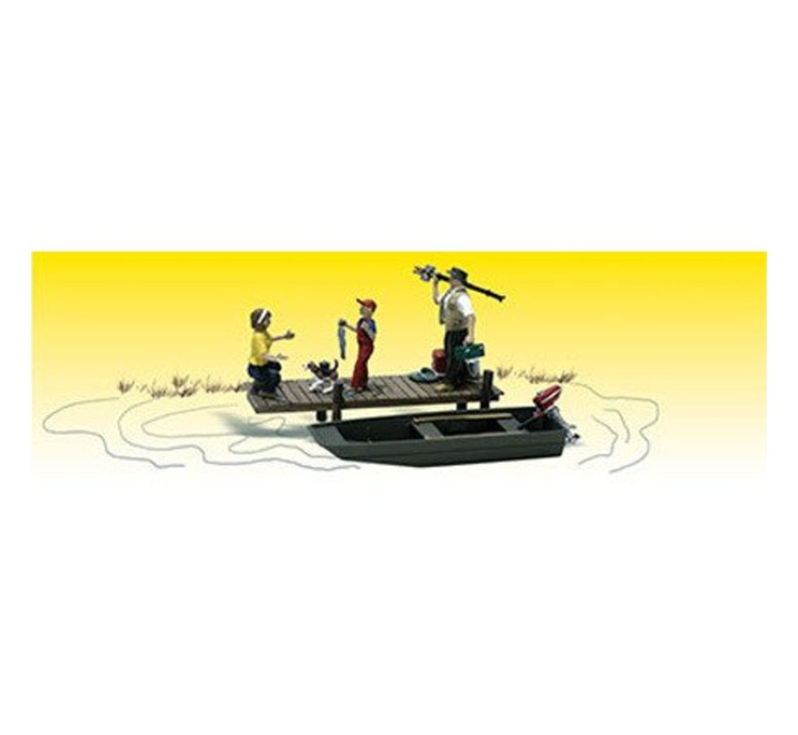 A2203 N scale Family Fishing