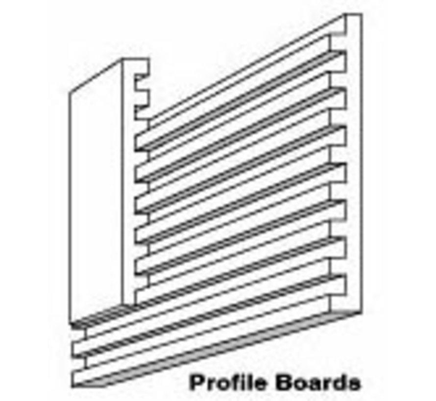 """ST1419 8""""x 24"""" Profile Boards w/Connectors (2)"""