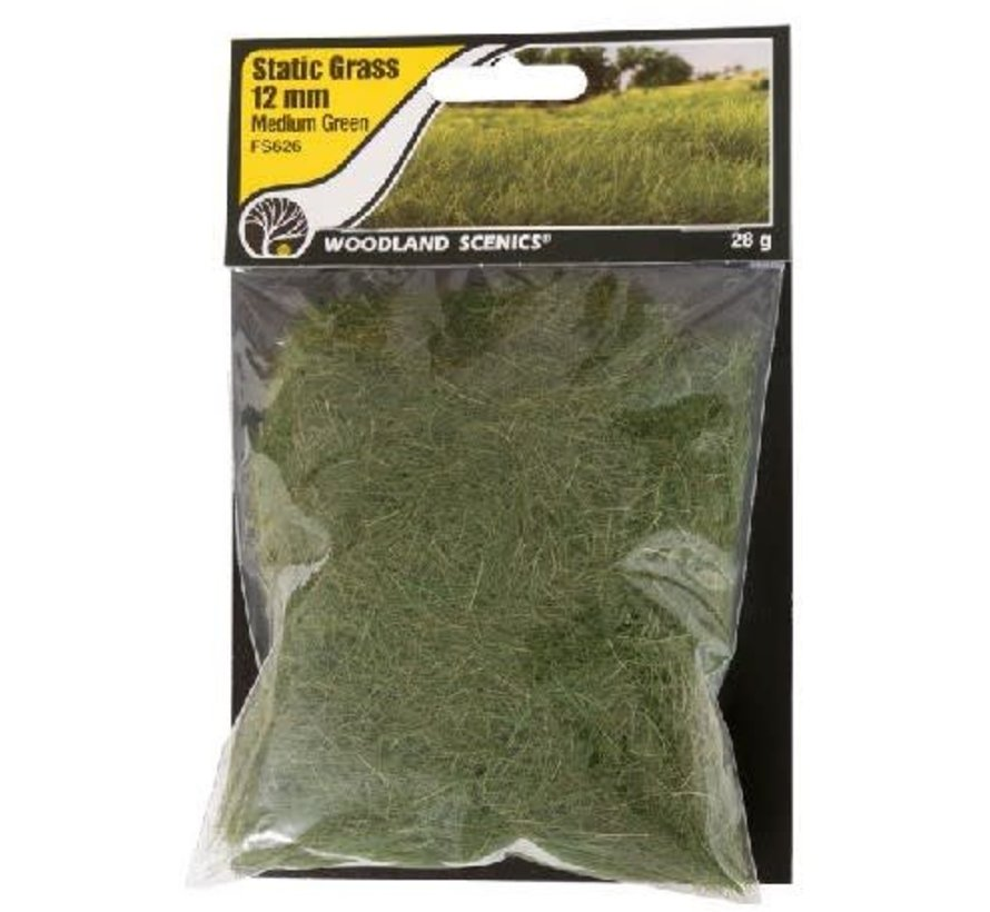 FS626 Static Grass, Medium Green 12mm