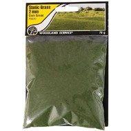 WOO - Woodland Scenics 785- FS613 Static Grass, Dark Green 2mm