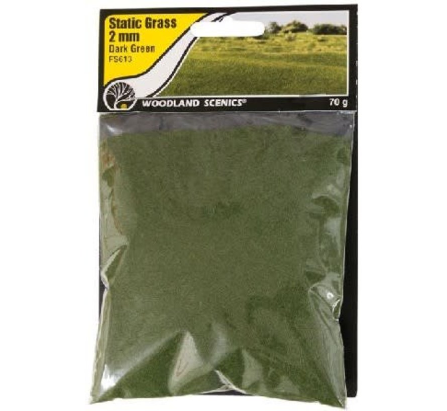 FS613 Static Grass, Dark Green 2mm