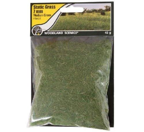 WOO - Woodland Scenics 785- FS622 Static Grass, Medium Green 7mm