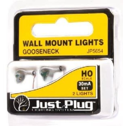 WOO - Woodland Scenics 785- JP5654 Gooseneck Wall Mount Lights HO (2)
