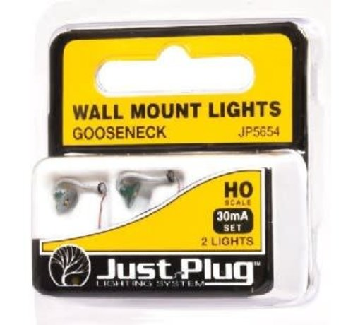 Woodland Scenics (WOO) 785- JP5654 Gooseneck Wall Mount Lights HO (2)