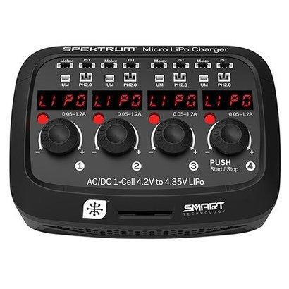 SPM - Spektrum XC1040 Micro 4 port AC/DC 1S LiPo Battery Charger