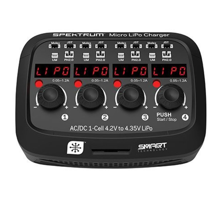 (SO) XC1040 Micro 4 port AC/DC 1S LiPo Battery Charger
