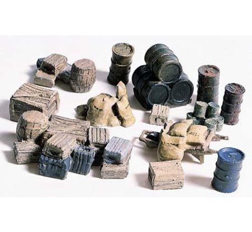 WOO - Woodland Scenics 785- HO Crates/Barrels/Sacks