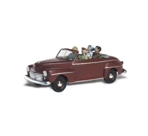 WOO - Woodland Scenics 785- N Autoscene Sunday Drive 1940's Ford Convertible w/Figures