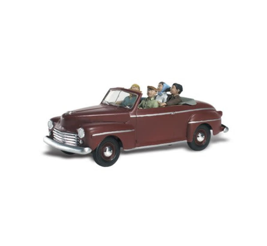 N Autoscene Sunday Drive 1940's Ford Convertible w/Figures