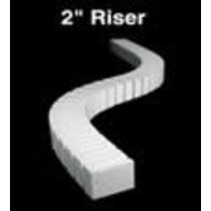 """WOO - Woodland Scenics 785- ST1408 2"""" Riser 2' each (4)"""