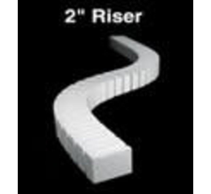 """ST1408 2"""" Riser 2' each (4)"""
