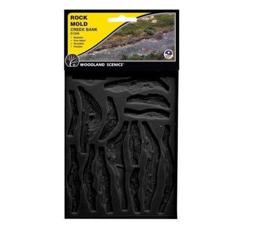 WOO - Woodland Scenics 785- C1245 Rock Mold  Creek Bank