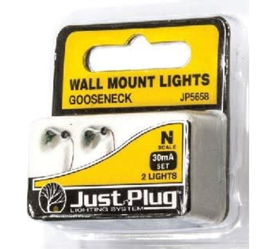 N Wall Mount Lights, Gooseneck (2)