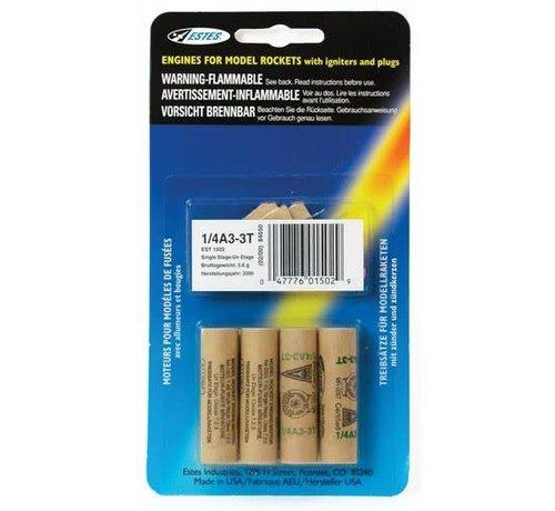Estes Rockets (EST) 1/4 A3-3T mm Single  4  HAZS