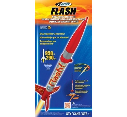 Estes Rockets (EST) 1478 Flash Launch Set E2X Easy-to-Assemble