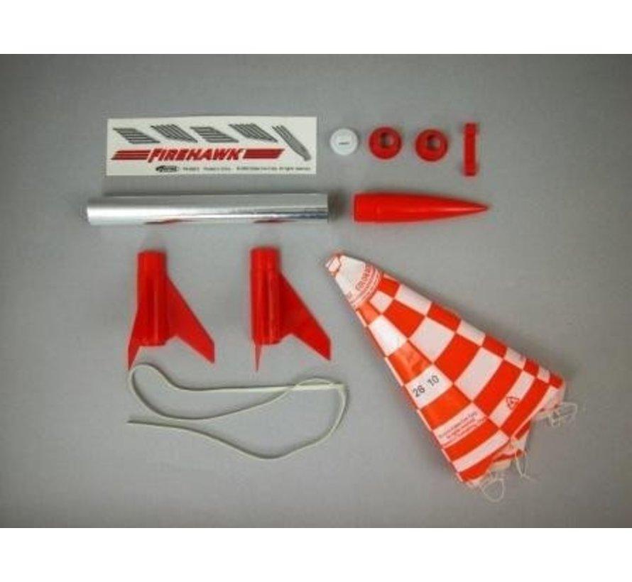 0804 Firehawk Model Rocket Kit E2X Easy-to-Assemble