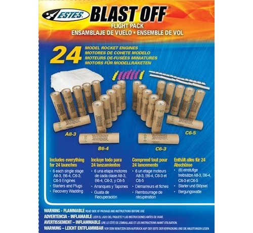 Estes Rockets (EST) 1672 Blast Off Flight Pack HAZ (24)