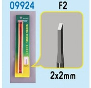 Master Tools Micro Chisel: 2mm x 2mm Square Tip