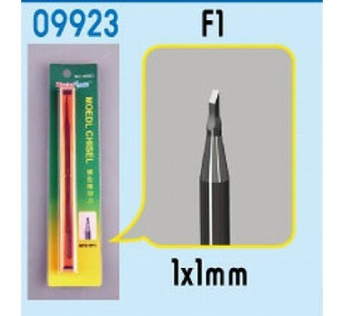 TSM - Trumpeter Models 9923 Model Micro Chisel: 1mm x 1mm Square Tip (TBD)