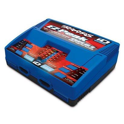 TRA - Traxxas 2972 - Traxxas EZ-Peak Dual 100W NiMH/LiPo dual charger with iD Auto Battery Identification