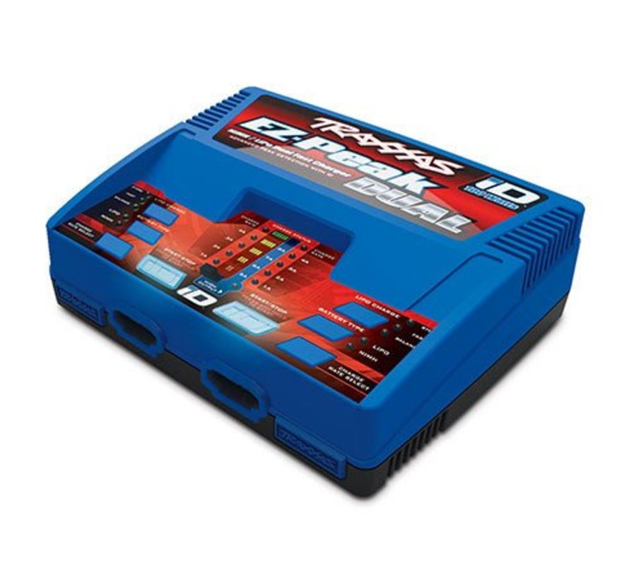 2972 - Traxxas EZ-Peak Dual 100W NiMH/LiPo dual charger with iD Auto Battery Identification