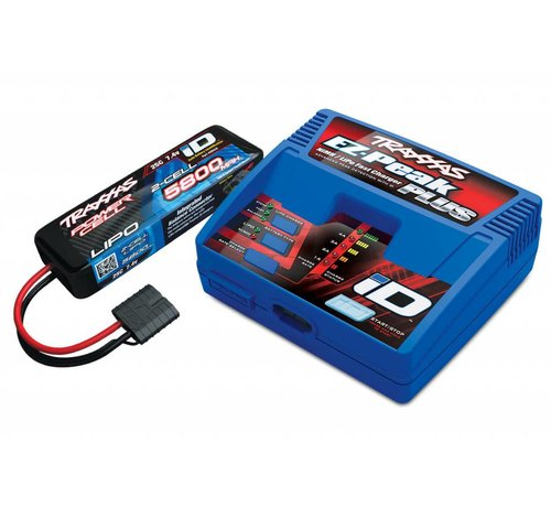 Traxxas (TRA) 2992 Battery/charger completer pack (includes #2970 iD charger (1), #2843X 5800mAh 7.4V 2-cell 25C LiPo battery (1))