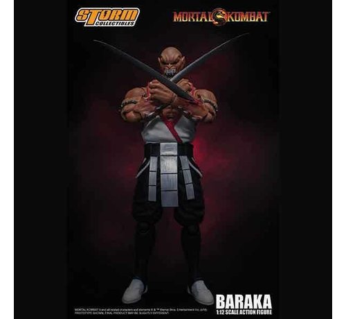 "Storm Collectibles 87091 Baraka ""Mortal Kombat"", Storm Collectibles 1:12 Action Figure"