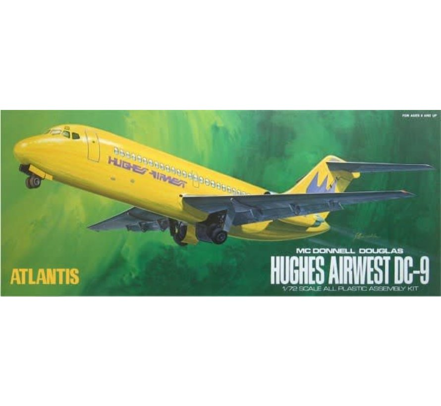 6004 Atlantis Models DC-9 Hughes Airwest Airliner