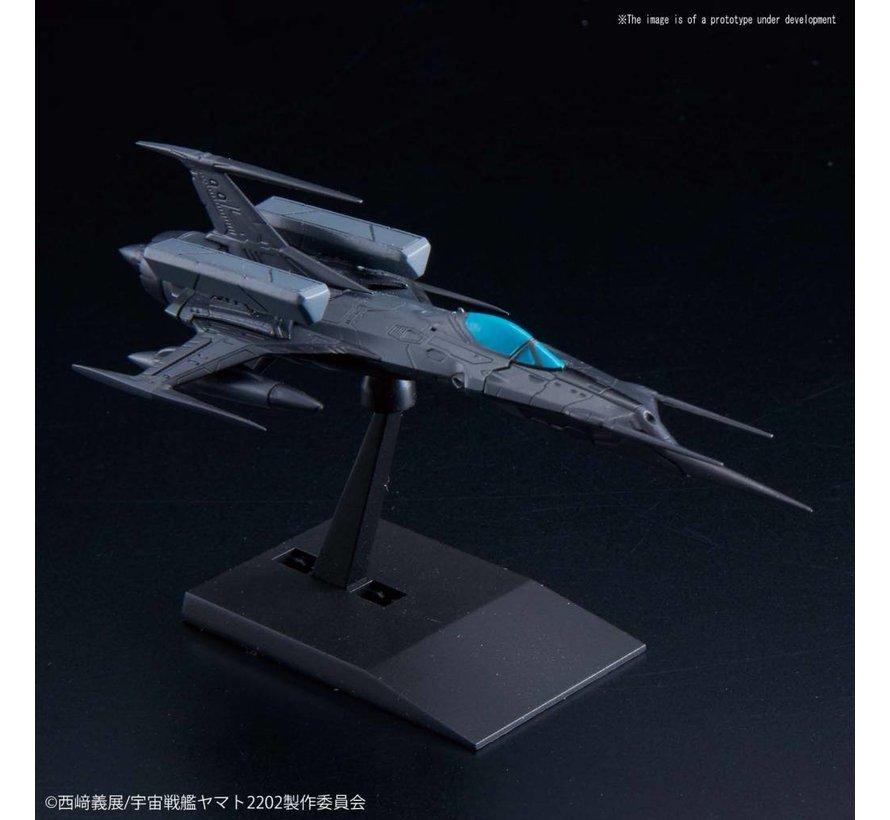 "5057657 Type 0 Model 52 bis Autonomous Space Fighter Black Bird Set ""Space BattleShip Yamato"", Bandai Star Blazers Mecha Collection"