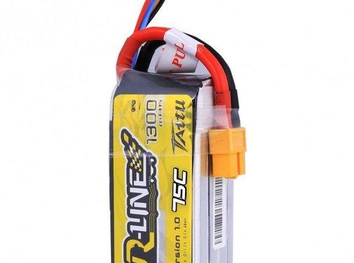 Tattu Tattu 11.1V 1300mAh 3S 75C lipo battery pack with XT60 plug