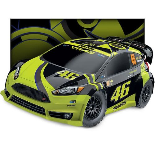 Traxxas -TRA Ford Fiesta ST Rally: 1/10 Scale Electric Rally Racer with Officially Licensed Painted Body and TQ 2.4GHz radio system