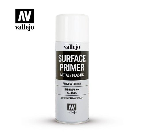 VALLEJO ACRYLIC (VLJ) 28010  White  Primer- 400 ML Spray
