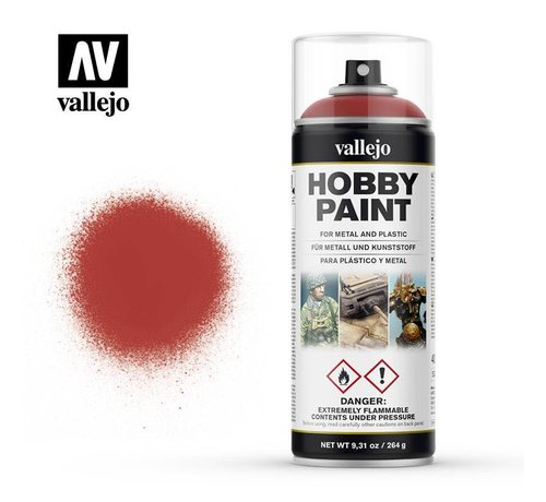 VALLEJO ACRYLIC (VLJ) 28016  Scarlet Red - 400 ML Spray