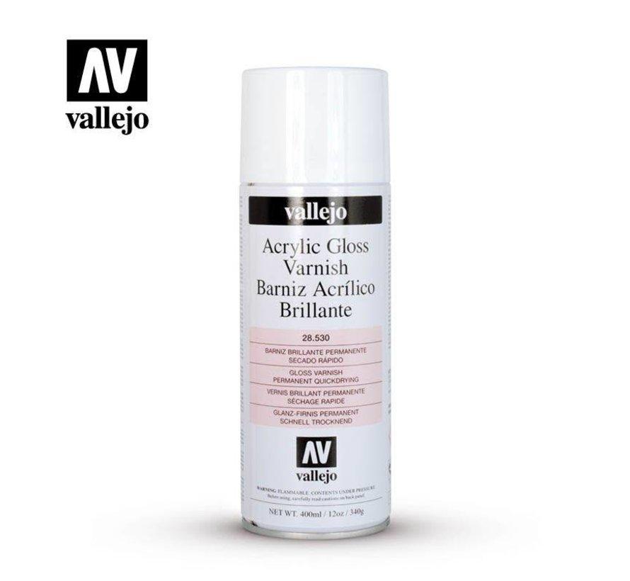 28530  Vallejo Gloss Varnish - 400 ML Spray Can