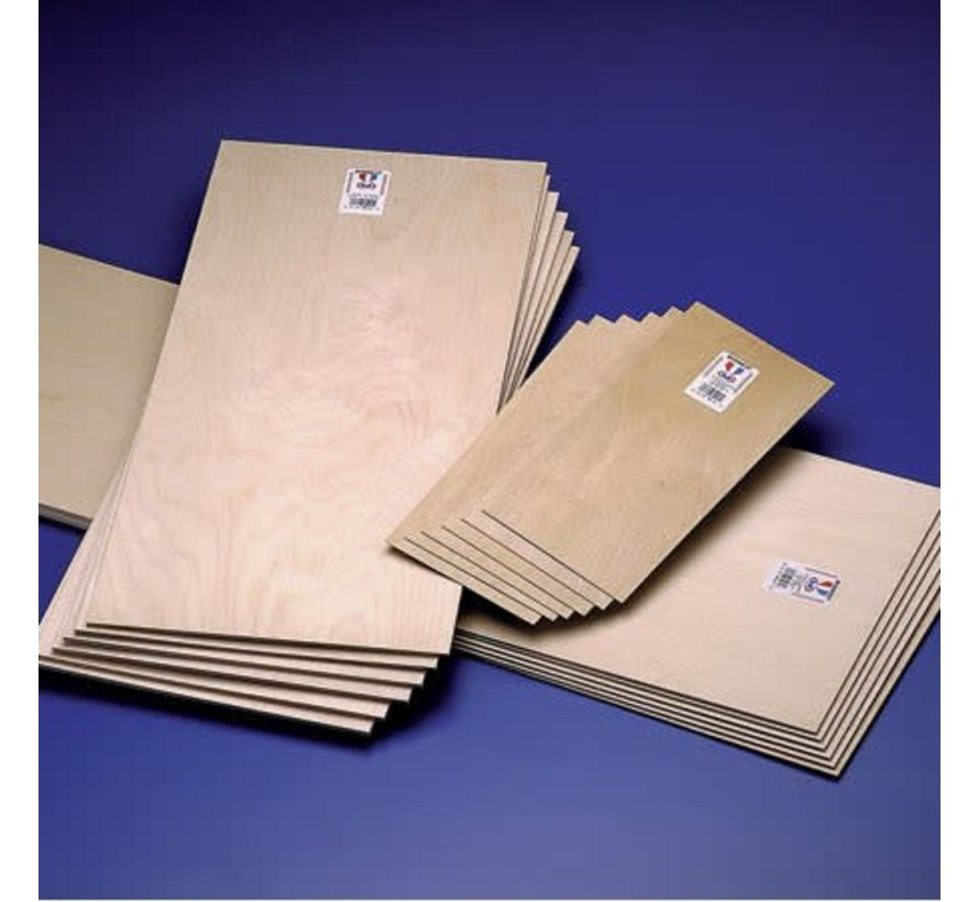 5211 Plywood 1/16x6x2 (1.5mm Thickness) EACH