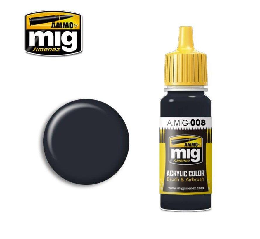 AMM0008 AMMO by Mig Acrylic Color - RAL7021 Dunkelgrau (17ml bottle)