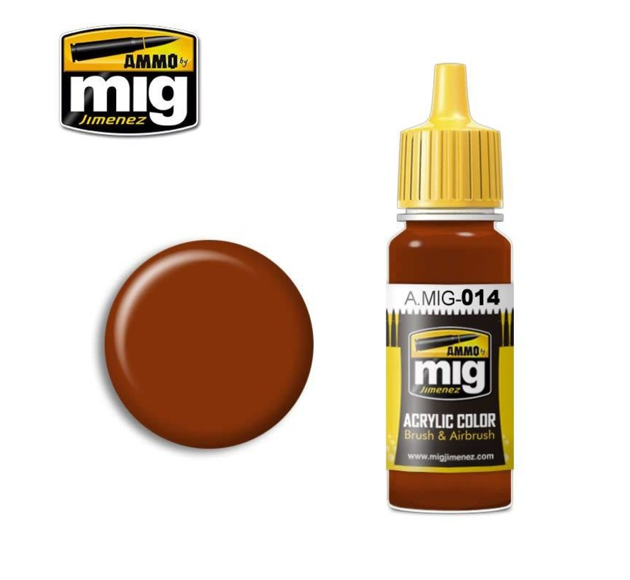 AMM0014 AMMO by Mig Acrylic Color - RAL8012 Rotbraun (17ml bottle)