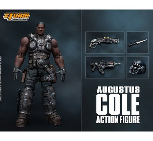 """Storm Collectibles 87096 Augustus Cole """"Gears of War"""", Storm Collectibles 1:12 Action Figure"""