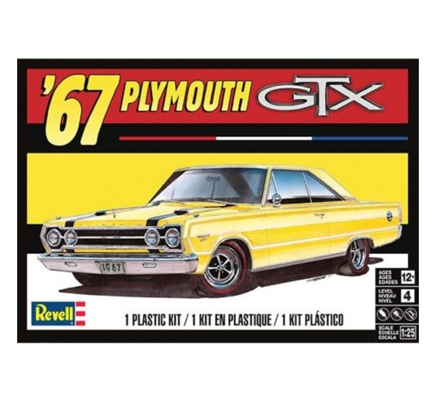 854481 Plymouth GTX 1967 Plastic Model Kit 1/25 Scale