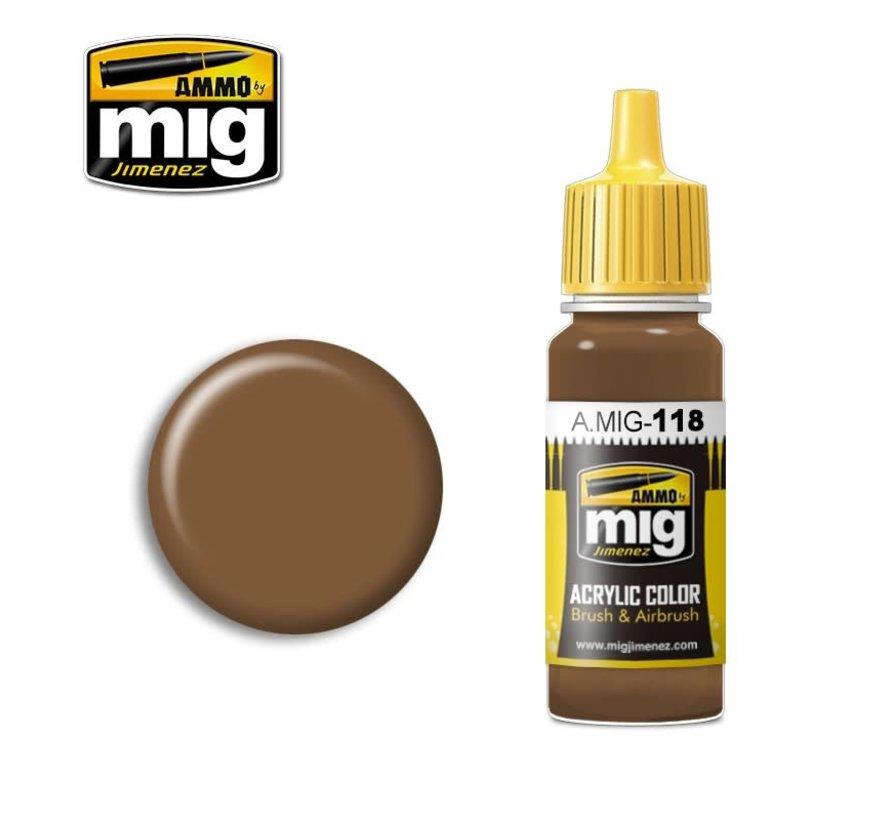AMM0118 AMMO by Mig Acrylic Color - Burnt Sand (17ml bottle)