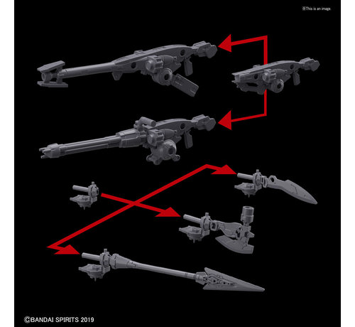 "BANDAI MODEL KITS 5057814 #02 Option Weapon 1 for Portanova  ""30 Minute Mission"", Bandai 30 MM Option Weapon"