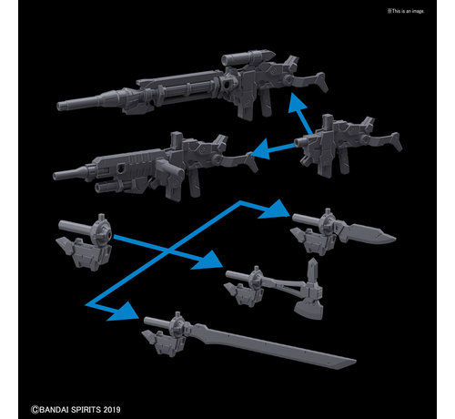 "BANDAI MODEL KITS 5057785 #01 Option Weapon 1 for Alto (Each) ""30 Minute Mission"", Bandai 30 MM Option Weapon"