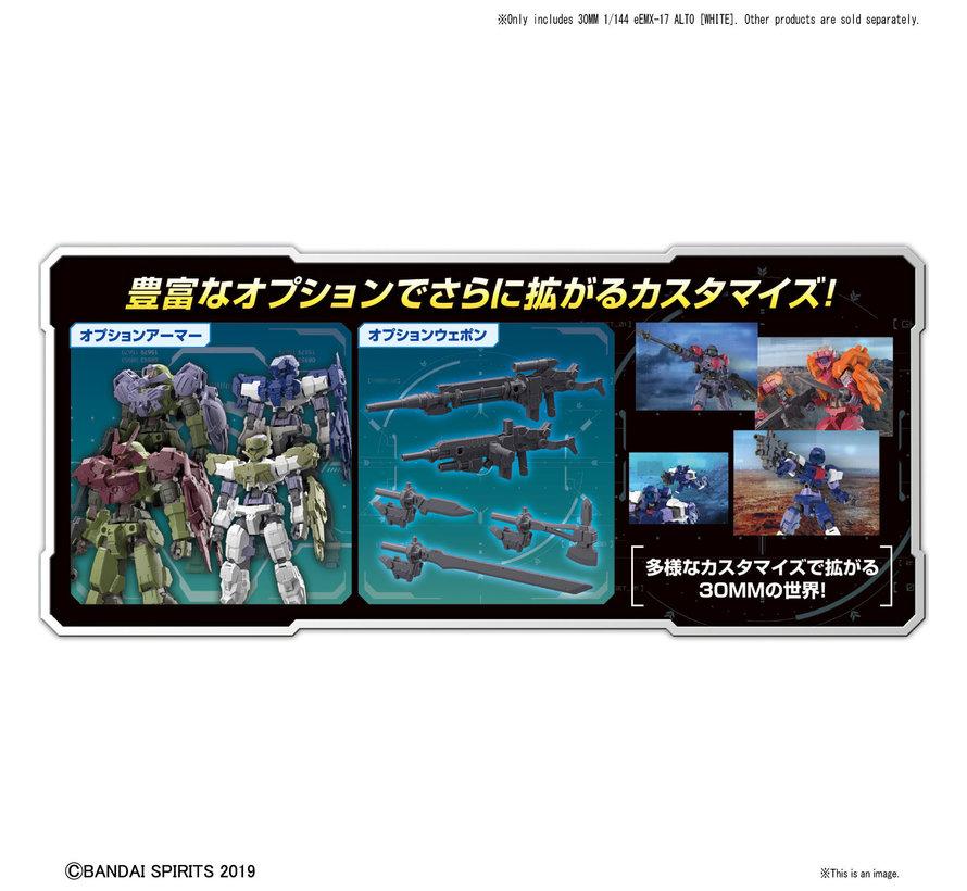 "5057778 #01 eEXM-17 Alto White ""30 Minute Mission"", Bandai 30 MM"