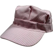DLS - DayLight Sales Pink/White Striped Hats (Engineer Cap) Adults