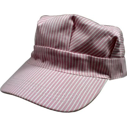 DLS - DayLight Sales 00059 Hickory Pink/White Striped Hats (Engineer Cap) Child